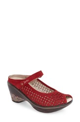 Women's Jambu 'Journey Encore' Mary Jane Sandal Red Leather