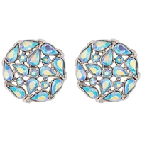 Susan Caplan Vintage Bridal 1950S Trifari Silver Plated Swarovski Crystal Clip On Earrings Silver