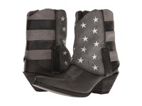 Durango Crush Fold Down Flag Boot Black Charcoal Grey Cowboy Boots