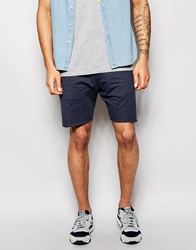 Solid Drop Crotch Sweat Shorts With Zips Navymarl