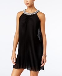 Speechless Juniors' Embellished Pleated Shift Dress Only At Macy's Black