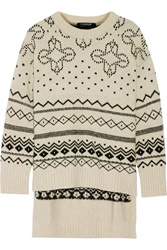 Thakoon Fair Isle Oversized Merino Wool Blend Sweater