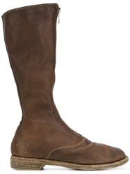 Guidi Zipped Front Boots Women Leather 39 Green