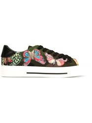 Valentino Garavani Butterfly Applique Sneakers Green
