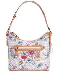 Giani Bernini Floral Signature Hobo Only At Macy's White