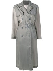 Mackintosh Slate Nylon Oversized Trench Coat Lm 099B Grey