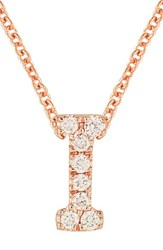 Bony Levy Women's Pave Diamond Initial Pendant Necklace Nordstrom Exclusive Rose Gold I