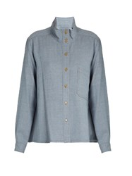 Rachel Comey Lone Wool Twill Shirt Light Blue