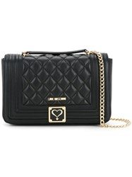 Love Moschino Quilted Crossbody Bag Women Polyurethane One Size Black