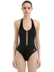K Way Sylvie One Piece Swimsuit W Zip Black