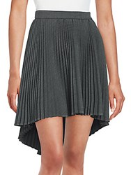 Cushnie Et Ochs Pleated Hi Lo Skirt Dark Grey