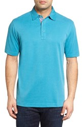 Bugatchi Men's Pique Polo Teal