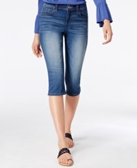 Inc International Concepts Embroidered Cropped Jeans Only At Macy's Little Bird Wash