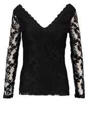 Vila Visenna Long Sleeved Top Black