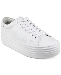 Guess Women's Alexea Flatform Lace Up Sneakers Women's Shoes White