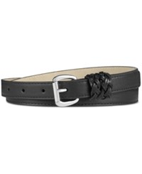 Inc International Concepts Braided Keeper Skinny Pant Belt Only At Macy's Black
