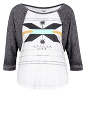 Roxy Surfer Dude Long Sleeved Top Marshmellow Off White