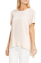 Vince Camuto Women's High Low Blouse Pink Mimosa