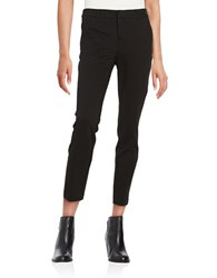 Lord And Taylor Petite Ponte Ankle Trousers Black