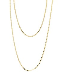 Lana Bond Nude 14K Two Strand Necklace Gold