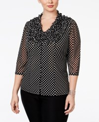 Inc International Concepts Plus Size Ruffled Polka Dot Blouse Only At Macy's Junior Dot