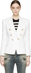 Balmain White Tweed Blazer