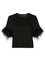 Veronica Beard Feather Trimmed T Shirt 60