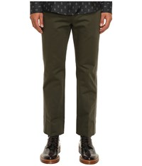 Marc Jacobs Cotton Sateen Trousers Forest Night Men's Casual Pants Green