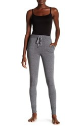 Shimera Satin Trim Knit Blend Legging Gray