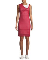 Helmut Lang Re Edition Archive Summer Camp Two Layer Asymmetric Tank Dress Red