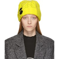Off White Yellow Knit Pop Color Beanie