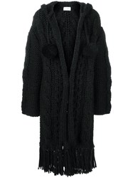 Saint Laurent Oversized Chunky Knit Cardigan Black