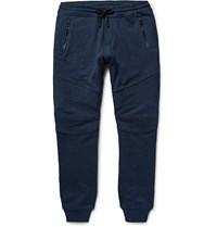 Belstaff Ashdown Slim Fit Tapered Loopback Cotton Jersey Sweatpants Blue
