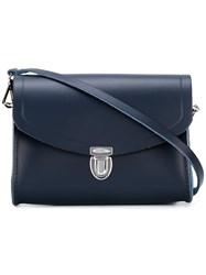 The Cambridge Satchel Company Medium Pushlock Crossbody Bag Blue