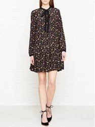 Mcq By Alexander Mcqueen Vintage Floral Print Pussybow Dress Multicolour