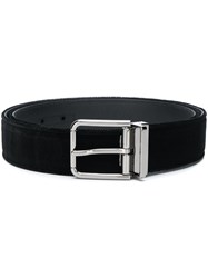 Dolce And Gabbana Velvet Belt Black
