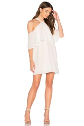 Krisa Off Shoulder Halter Dress White
