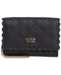 Guess Rayna Double Date Signature Wallet Black Gold