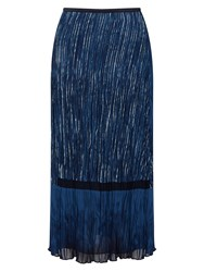 East Lucille Print Pleat Skirt Blue
