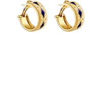 Mahnaz Collection Vintage Women's Enamel Accented Hoops No Color
