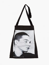 Raf Simons Black Printed Tote Bag