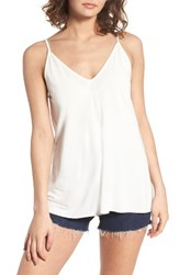 Lush Women's V Neck Tank Off White