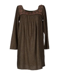 Antik Batik Short Dresses Khaki