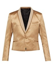 Haider Ackermann Shawl Lapel Silk Blend Satin Jacket Beige