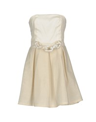 Giorgia And Johns Short Dresses Ivory