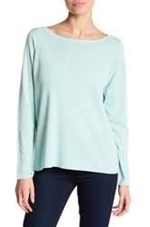 Eileen Fisher Bateau Neck Pullover Blue