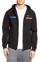 Lacoste Men's Lifestyle Double Face Fleece Hoodie Black