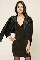 Forever 21 Glitter Knit Mini Dress