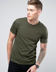 Only And Sons T Shirt With Embroidery Green