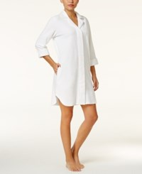 Charter Club Snap Front Terry Robe Only At Macy's White